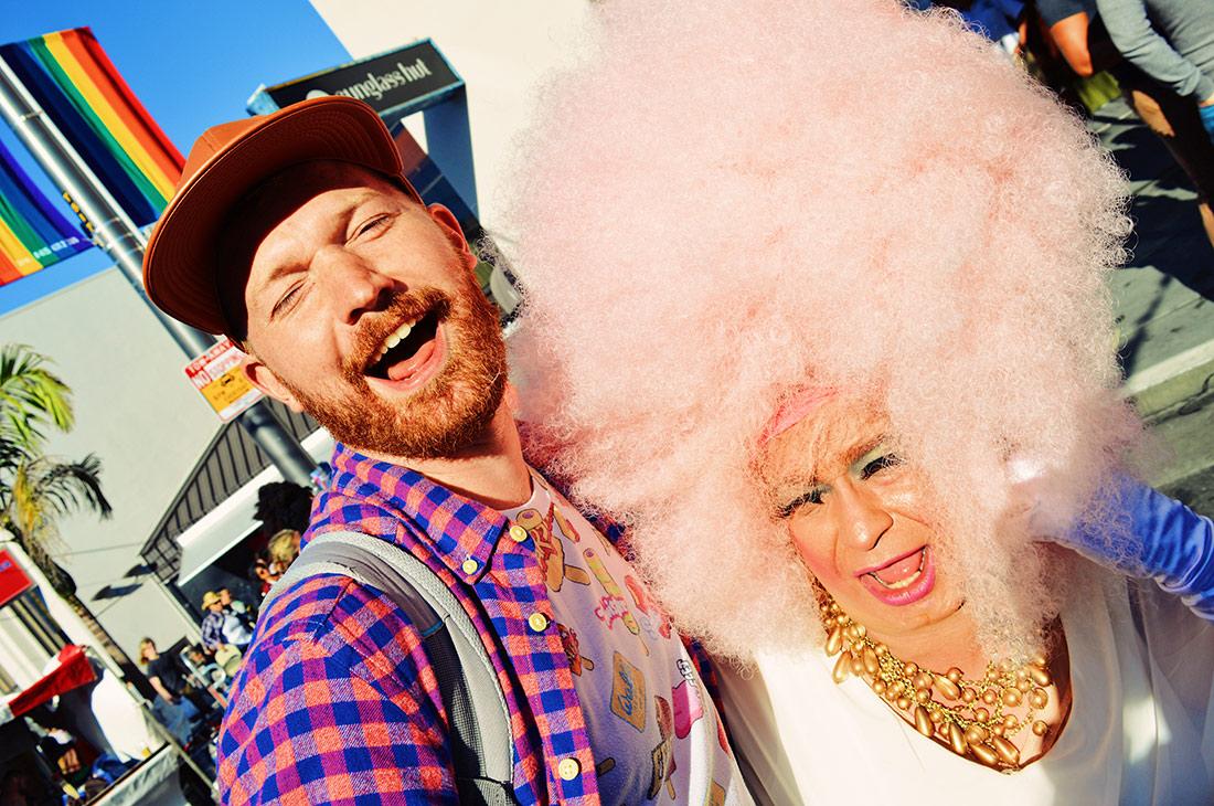 Daan in love with his favorite Drag Queen © CoupleofMen.com