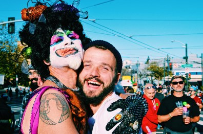Karl in love with a beautful Drag Queen | Our Photo Story Castro Street Fair San Francisco © CoupleofMen.com