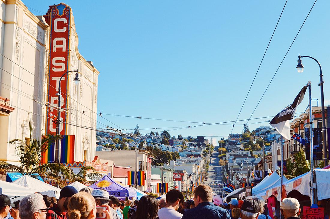 View over Castro Street Fair with Castro Theater © CoupleofMen.com
