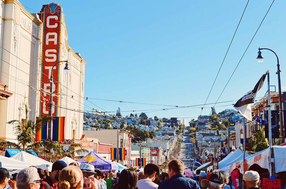 View over Castro Street Fair with Castro Theater © CoupleofMen.com