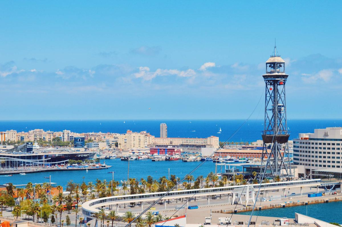 "Port Cable Car Barcelona: Review of our ""flight"" with the Red Gondolas of Teleférico del Puerto 