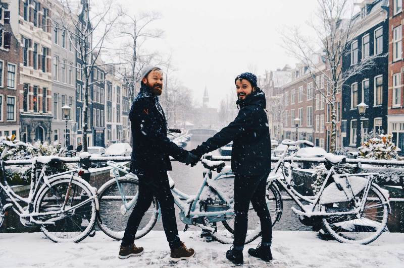 Let us show you a snowy Winter day in Amsterdam © Coupleofmen.com