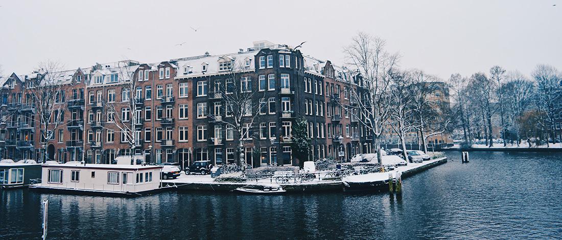 Dutch Winter Day Amsterdam Netherlands   © CoupleofMen.com