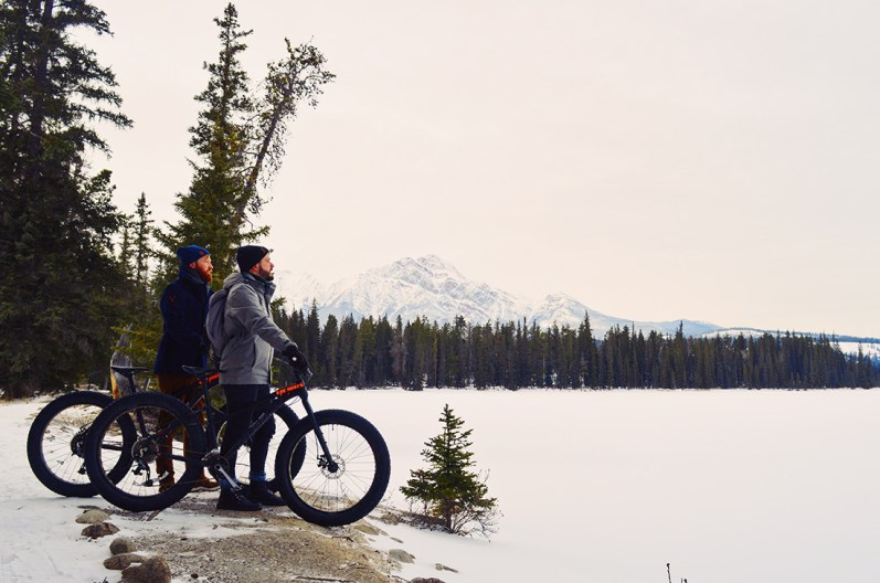 Fat Tire Biking around the Lodge Lake © CoupleofMen.com