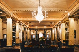 Welcome! The Lobby at Gay-friendly Fairmont Palliser Hotel Downtown Calgary © CoupleofMen.com