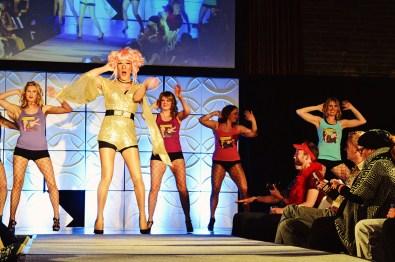 "Gala Evening with Drag Queen Shows ""Rocky Mountain Gurrrls"" | Highlights Jasper Pride Festival Rainbow Parade Marmot Basin © CoupleofMen.com"