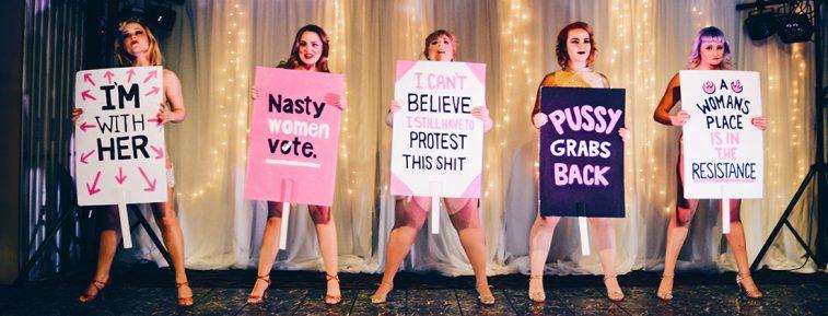 Send in the Girls Burlesque | Highlights Jasper Pride Festival Rainbow Parade Marmot Basin © CoupleofMen.com