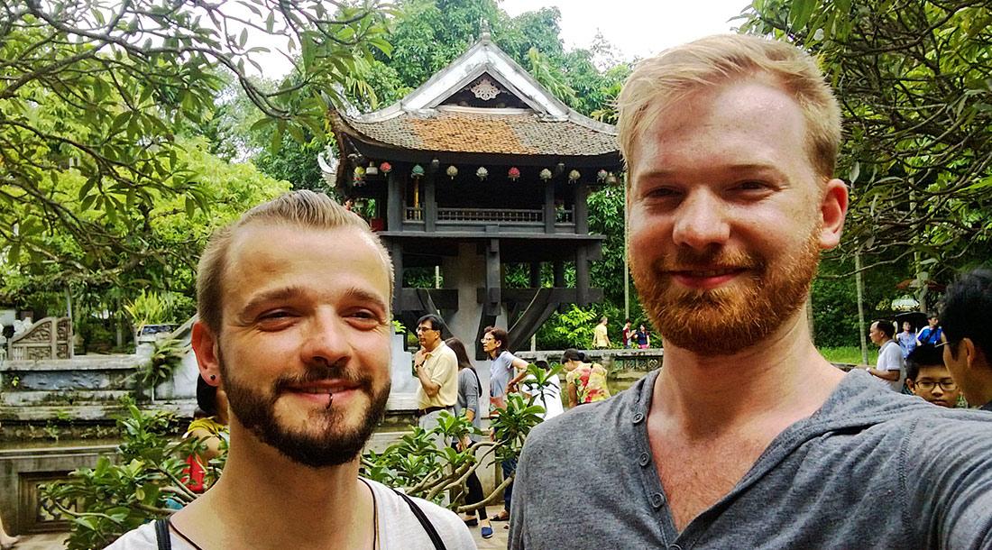 Buddhist One Pillar Pagoda in Hanoi | Top Highlights Best Photos Gay Couple Travel Vietnam © CoupleofMen.com