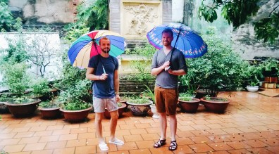 Gay Travel Adventure Vietnam Rainbow Umbrellas in Hanoi | Top Highlights Best Photos Gay Couple Travel Vietnam © CoupleofMen.com