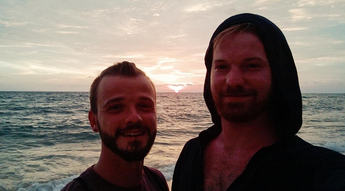 Gay Travel Adventure Vietnam Sunset on Phu Quoc Island | Top Highlights Best Photos Gay Couple Travel Vietnam © CoupleofMen.com