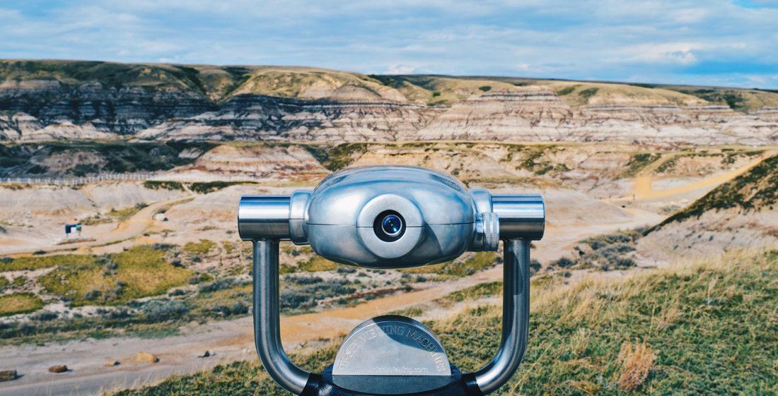 View over Alberta's bad lands   Dinosaurs Royal Tyrrell Museum Drumheller Alberta Canada © CoupleofMen.com