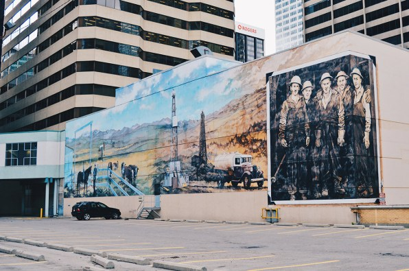 Turner Valley Mural | Photo Tour Parks Public Art Downtown Calgary Alberta © CoupleofMen.com