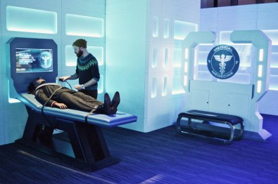 Daan helping a wounded Klingon at Star Trek Medical Center | Telus Spark Calgary Star Trek Academy Experience © CoupleofMen.com