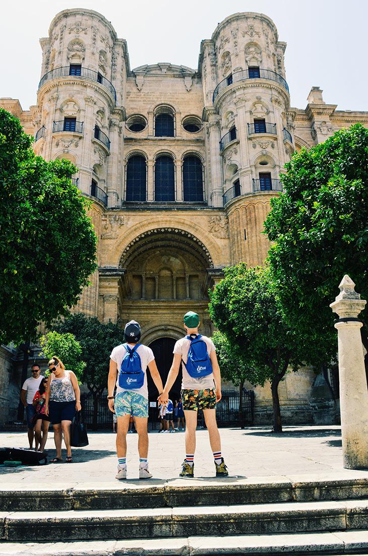 Gay Couple Gay Cruise Stopover Malaga Spain © CoupleofMen.com