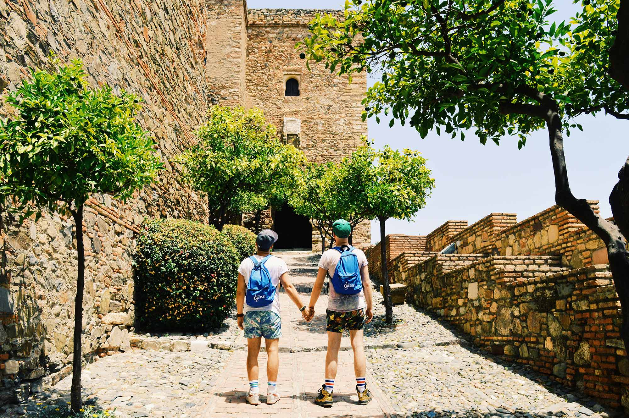 Gay Couple Gay Cruise Stopover Malaga Spain © CoupleofMen.com