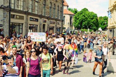 More than 1800 participants at Baltic Pride 2017 Tallinn Best Powerful LGBTQ Photos © CoupleofMen.com