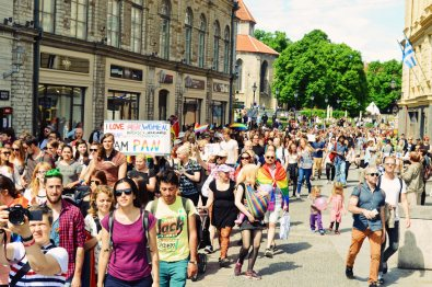 More than 1800 participants at Baltic Pride 2017 Tallinn Best Powerful LGBTQ Photos © CoupleofMen.com