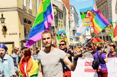 Handsome gay men during Baltic Pride 2017 Tallinn Best Powerful LGBTQ Photos © CoupleofMen.com