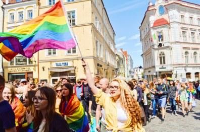 Rainbow flag during Tallinn Pride   Baltic Pride 2017 Tallinn Best Powerful LGBTQ Photos © CoupleofMen.com