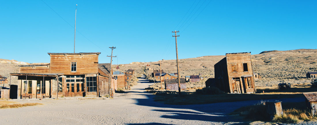 Main Street of Wild West's Gold Town   Ghost Town Bodie State Historic Park California © CoupleofMen.com