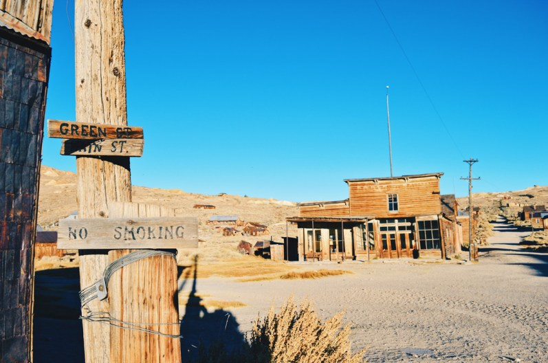 Green Street of Wild West's Gold Ghost Town Bodie   Ghost Town Bodie State Historic Park California © CoupleofMen.com