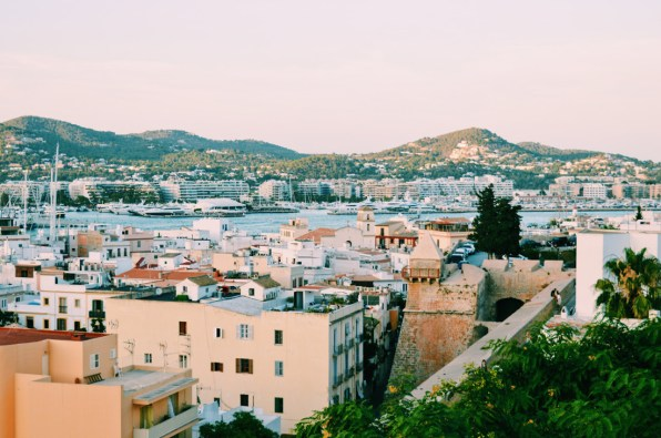 Ibiza Town and harbor by sunset | Gay Couple Travel Gay Beach Ibiza Town Spain © CoupleofMen.com