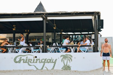 Gay Travel Ibiza Restaurant Chiringay at the Gay Beach Ibiza | Gay Couple Travel Gay Beach Ibiza Town Spain © CoupleofMen.com