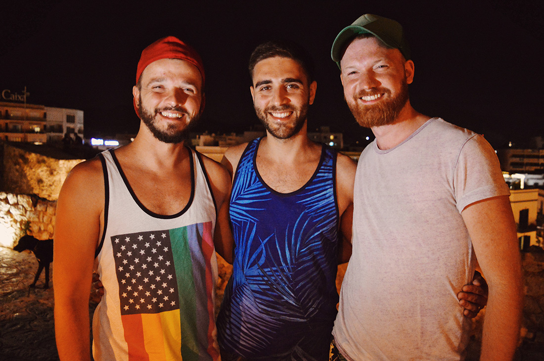 Ibiza Gay Travel Tips Gay Travel Ibiza Meeting handsome Instagram guy @ansaro during dinner | Gay Couple Travel Gay Beach Ibiza Town Spain © CoupleofMen.com
