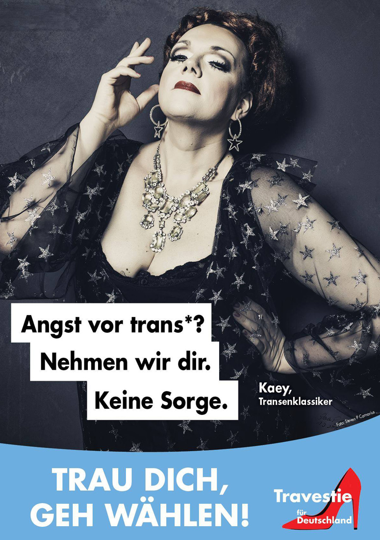 Drag Queen German Elections 2017 Travesty for Germany Drag Election Posters