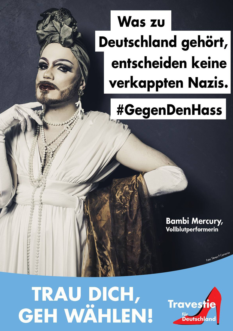Travesty for Germany Drag Election Posters