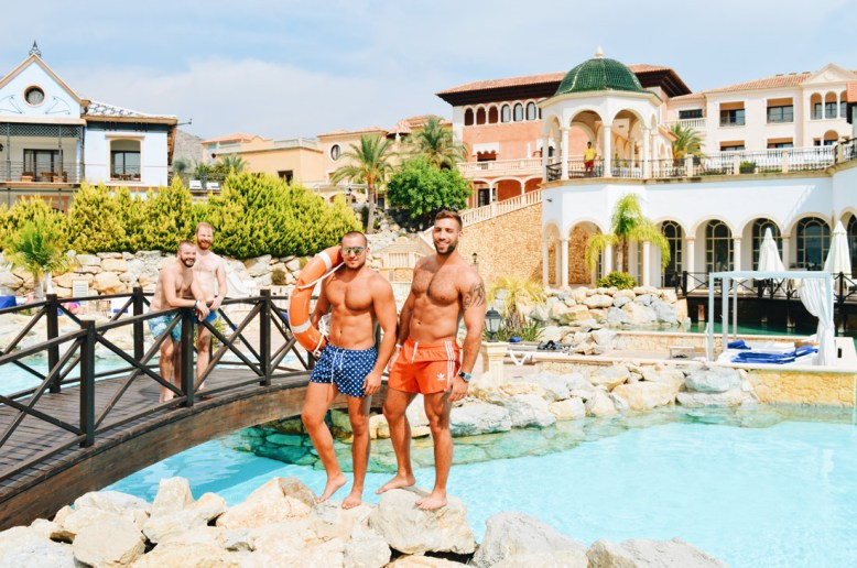 Gay-friendly The Level Meliá Villaitana Benidorm Photos with two models from Tel Aviv by the Pool © CoupleofMen.com