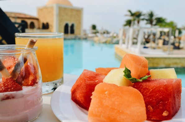 Gay-friendly The Level Meliá Villaitana Benidorm Breakfast with pool view © CoupleofMen.com