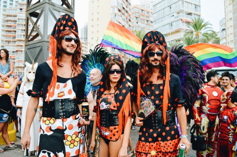 Best Photos of Benidorm Gay Pride Benidorm Gay Pride Rainbow Carnival Spain 2017 © CoupleofMen.com