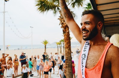 Sexy Spanish Gay Man Benidorm Gay Pride Rainbow Carnival Spain 2017 © CoupleofMen.com
