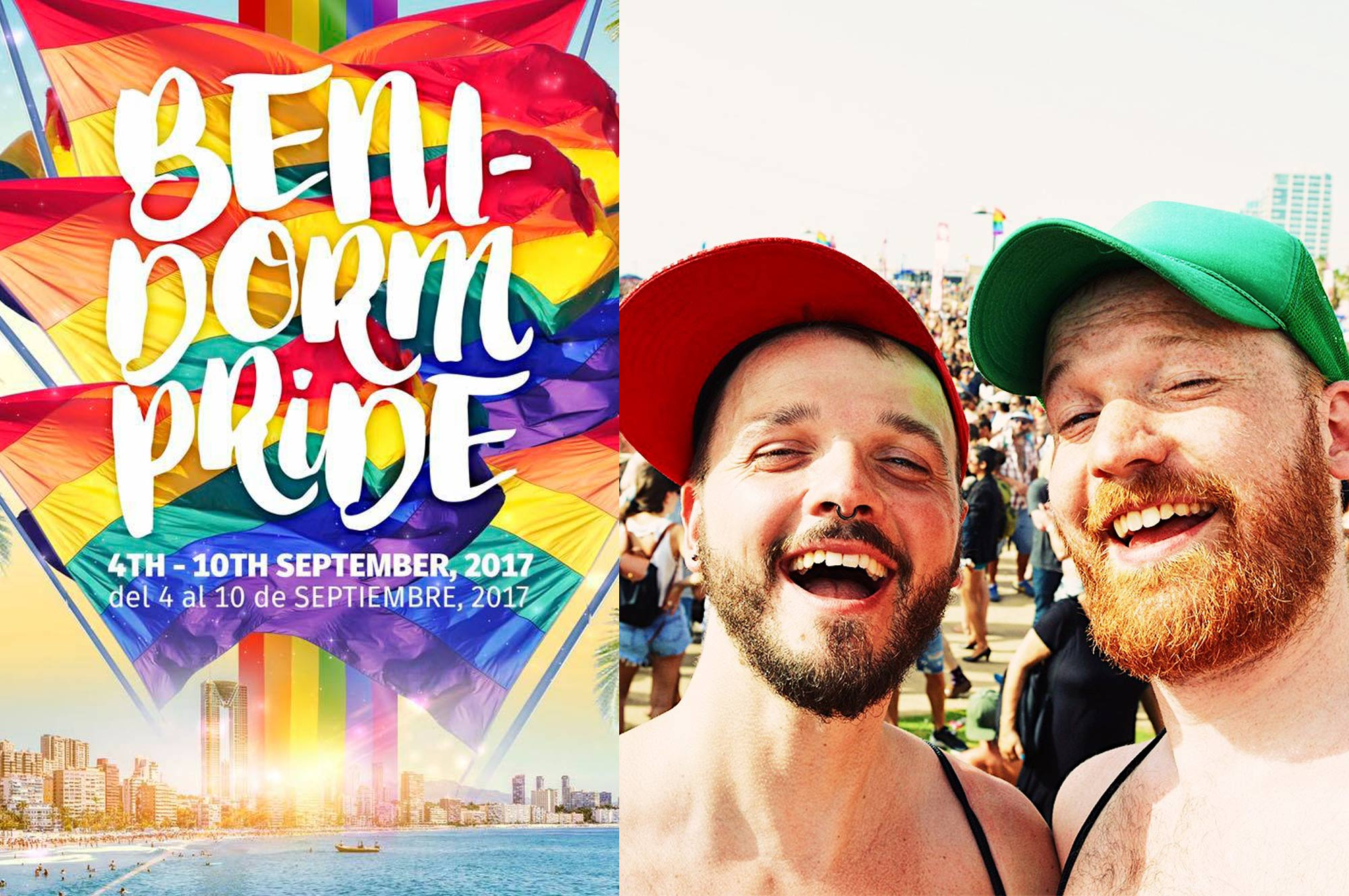 Gay Couple Travel Blogger Benidorm Pride Spain © CoupleofMen.com