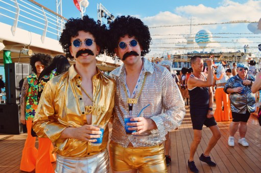 Definitely early 70s | Disco T-Dance Party The Cruise 2017 © CoupleofMen.com