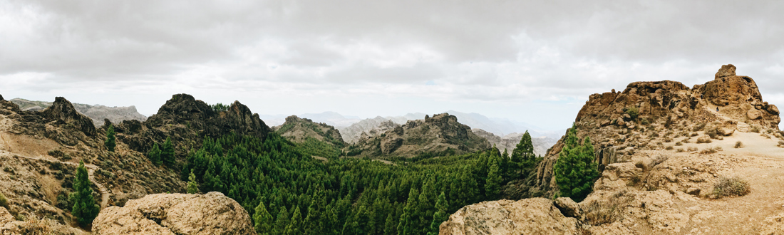 Mountains of the National Park Roque Nublo | Gay Couple Travel Diary The Cruise 2017 © CoupleofMen.com