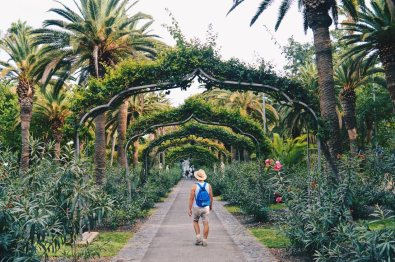 Karl wandering around Parque García Sanabria on Tenerife | Gay Couple Travel Diary The Cruise 2017 © CoupleofMen.com