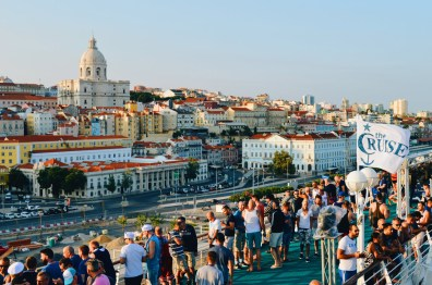 View from the Cruise Ship over Lisbon © CoupleofMen.com