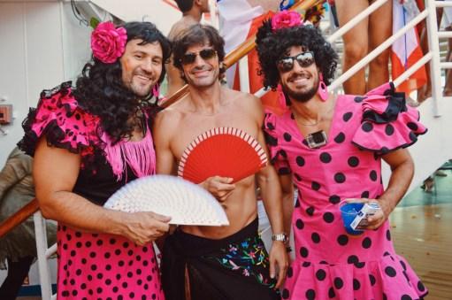 Pink Beauties at the Ladies T-Dance © CoupleofMen.com