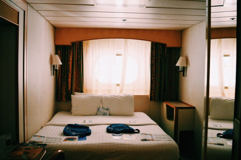 Our Superior Exterior Double Room with a window | Gay Couple Travel Diary The Cruise 2017 © CoupleofMen.com