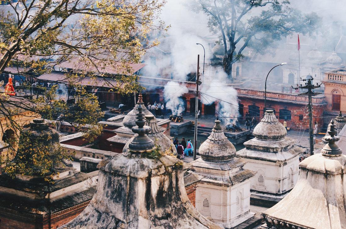 Cremation fires at Pashupatinath temple complex | Gay Travel Nepal Photo Story Himalayas © Coupleofmen.com