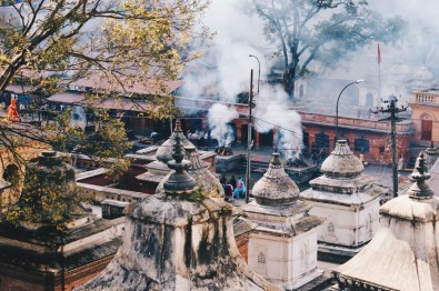 Cremation fires at Pashupatinath temple complex   Gay Travel Nepal Photo Story Himalayas © Coupleofmen.com
