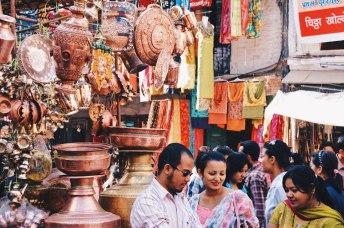 Copper Dishware on a market in Kathmandu   Gay Travel Nepal Photo Story Himalayas © Coupleofmen.com