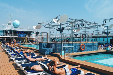 Pool area onboard the Monarch | Gay Couple Travel Diary The Cruise 2017 © CoupleofMen.com