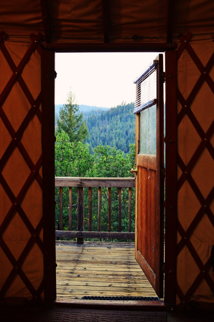 Open the door to our nature adventure: from the Yurt into Yosemite National Park © Coupleofmen.com