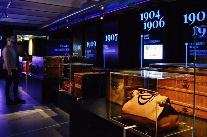 Timeline of Louis Vuitton travel trunks | Legendary Trunks Exhibition Amsterdam © Coupleofmen.com