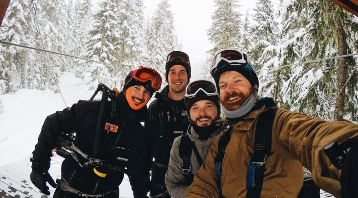 Zip Lining & Snowmobiling The Adventure Group TAG Whistler Gay-friendly © Coupleofmen.com