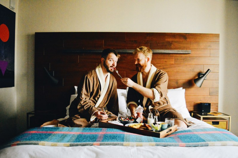 In-Dine Breakfast in Bed © CoupleofMen.com