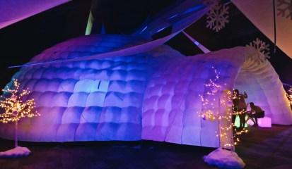 Gigantic Lounge Iglu at Snowball 2018   Whistler Pride 2018 Gay Ski Week © Steve Polyak